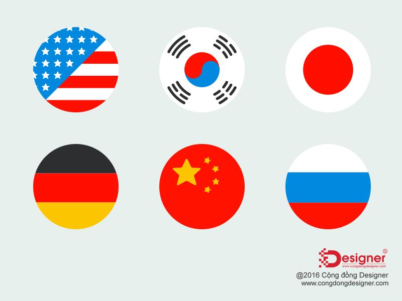 Flag Icon PSD Template miễn phí 49