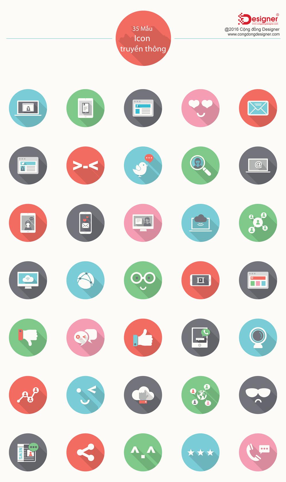 Free Social Media Icons PSD #30