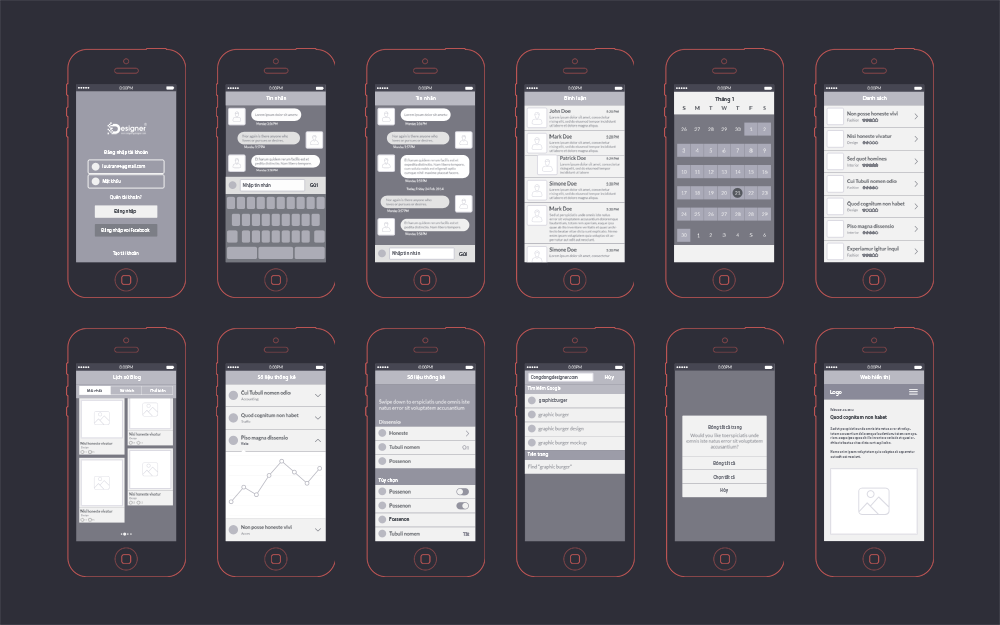 Mobile App Design Template PSD Free #32