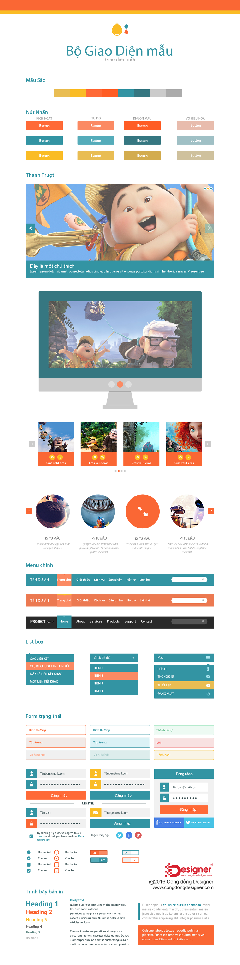 Free Flat PSD Website Templates #58