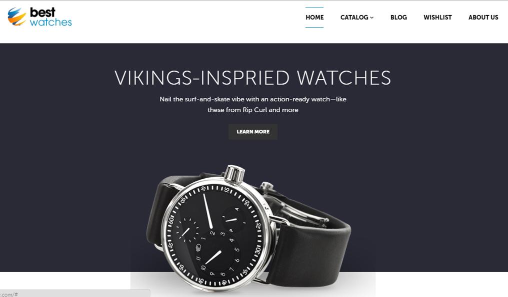 mẫu website bán đồng hồ