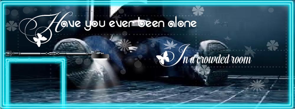 Ảnh bìa Facebook tâm trạng cô đơn một mình