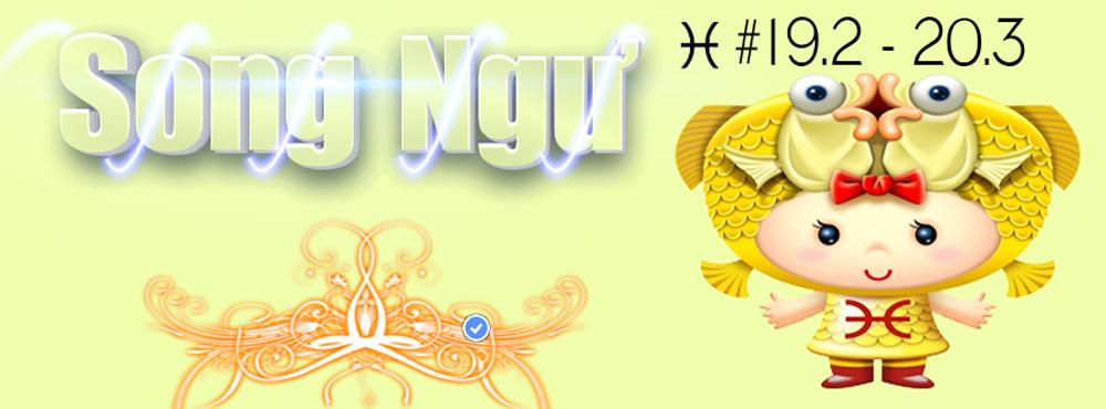 PSD ảnh bìa cung hoàng đạo Song Ngư