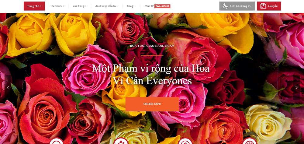 giao diện website bán hoa