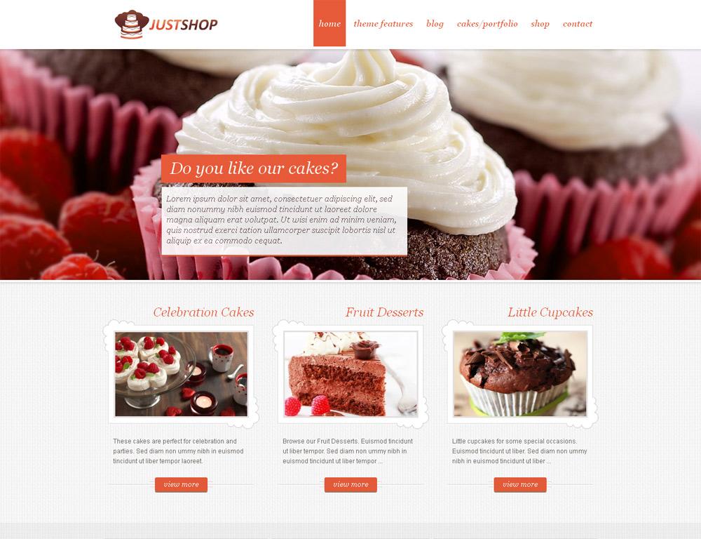 mẫu thiết kế webíte ban đồ ăn