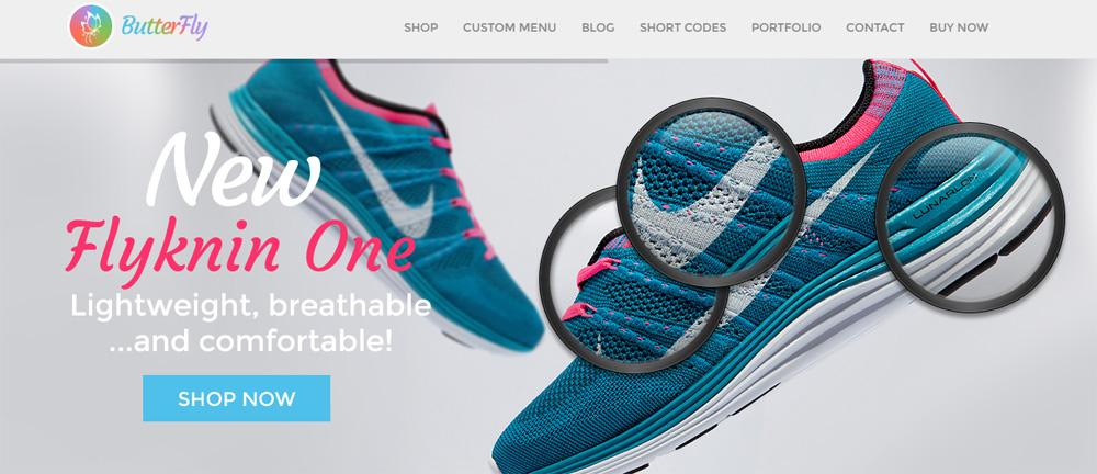mẫu thiết kế website bán giày dép