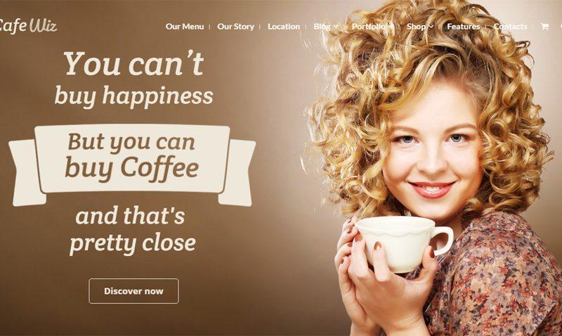 Mẫu thiết kế website quán cafe đẹp tháng 6/2016