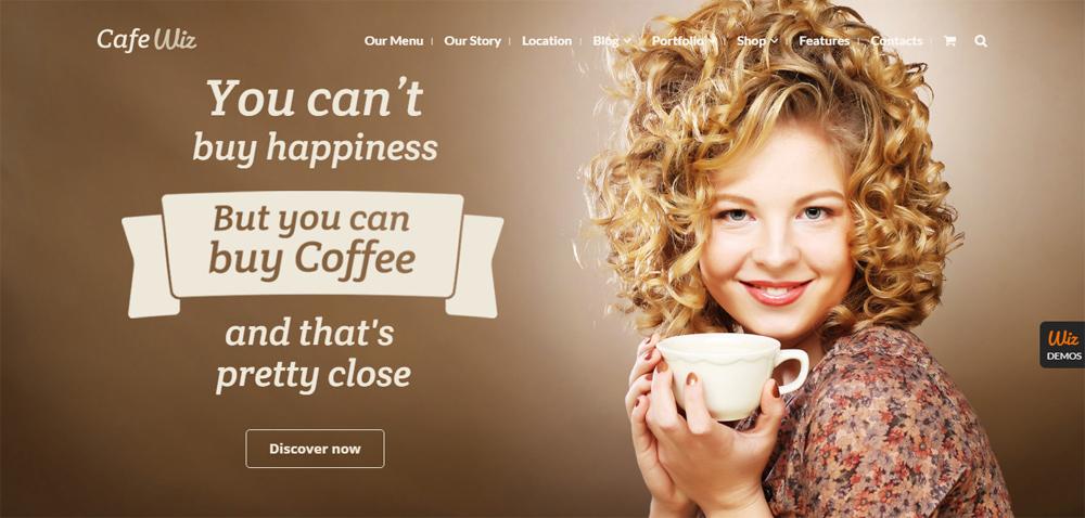 mMẫu thiết kế website quán cafe đẹp
