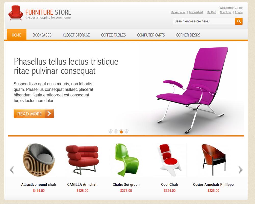 mẫu web bán đồ nội thất