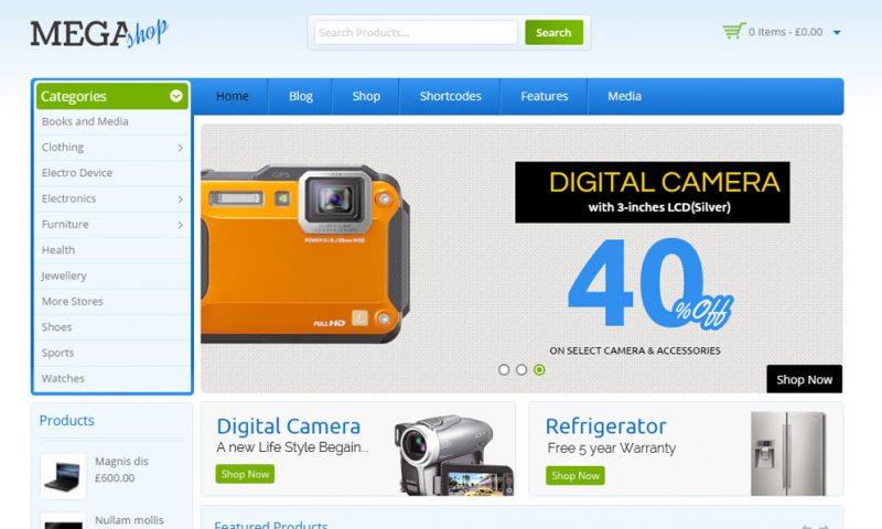 Mẫu thiết kế website bán camera đẹp tháng 6/2016