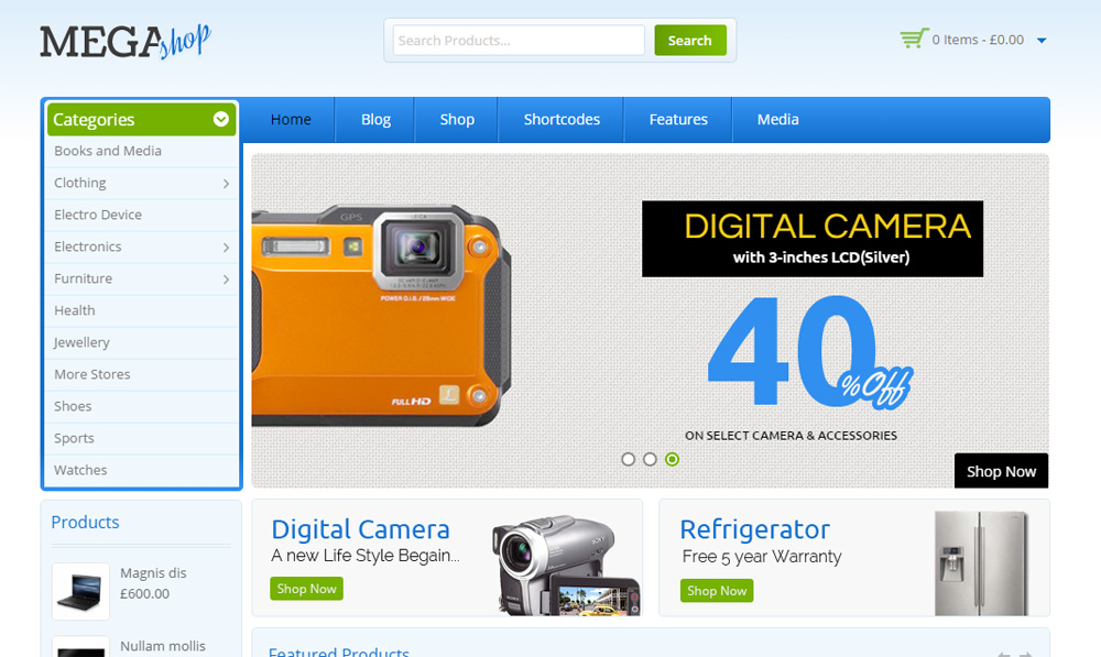 mẫu website bán camera đẹp