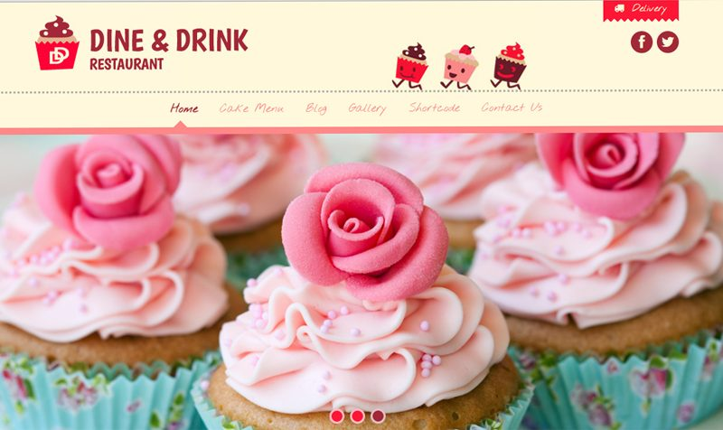 Mẫu thiết kế website bán đồ ăn, cửa hàng bánh ngọt đẹp tháng 6/2016
