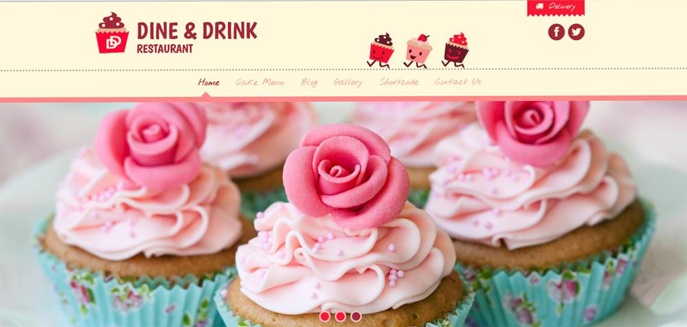 Mẫu thiết kế website bán đồ ăn