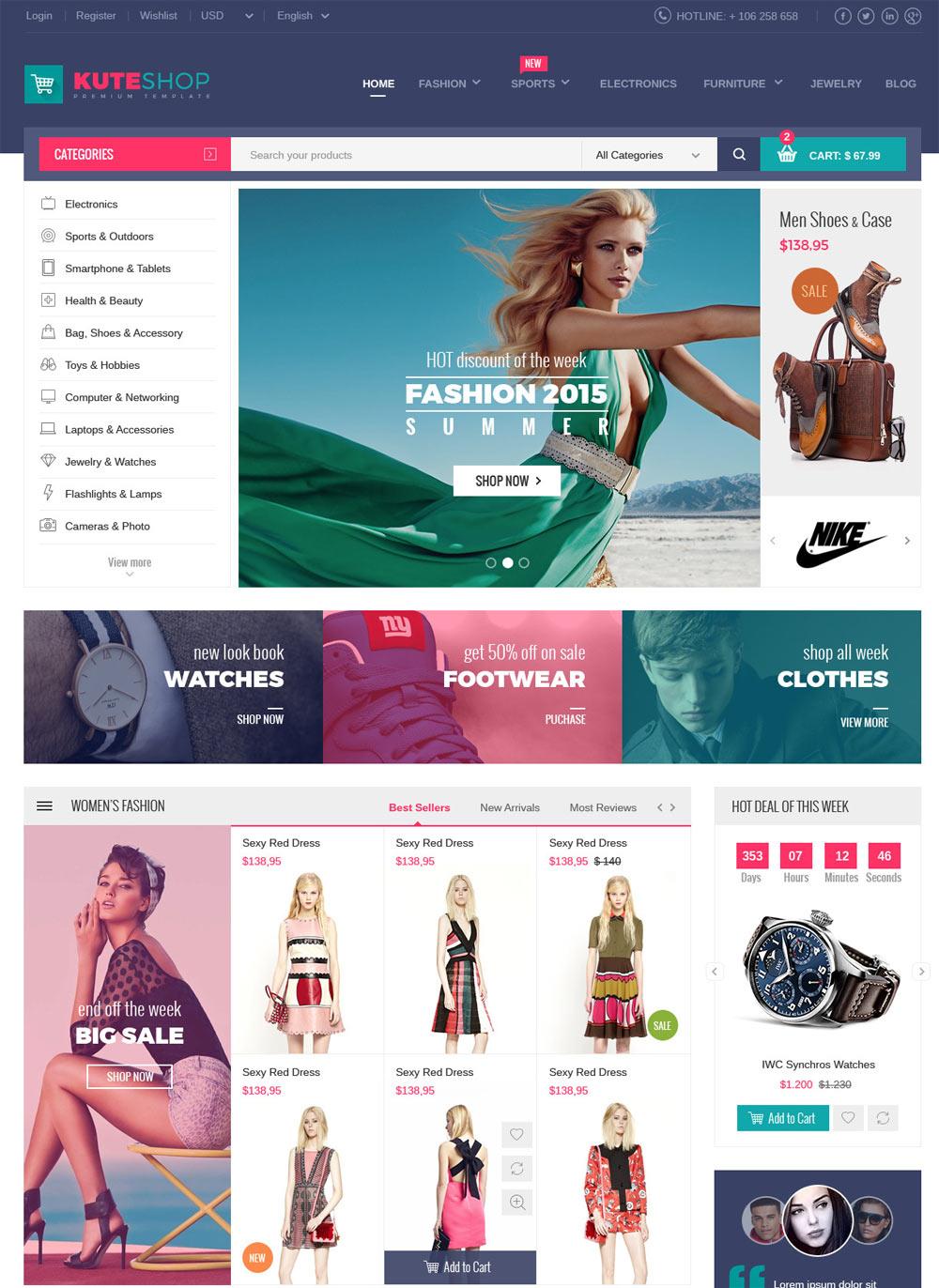 mẫu website bán hàng thời trang đẹp