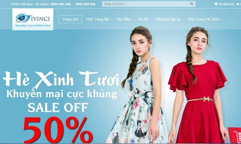 Mẫu website bán hàng thời trang đẹp nhất tháng 6/2016
