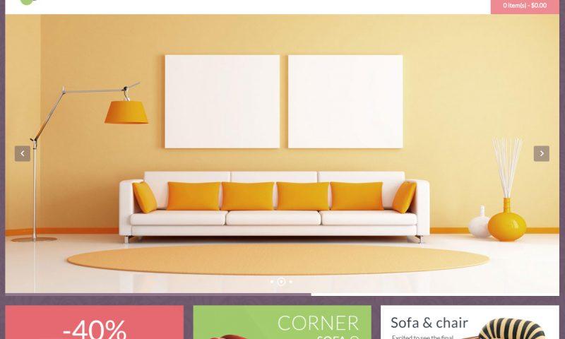 Mẫu website bán nội thất đẹp tháng 6/2016