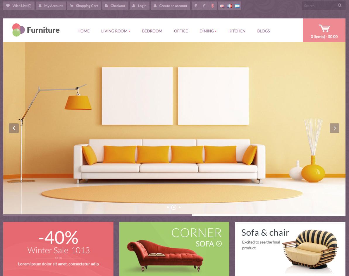 mẫu website bán nội thất đẹp