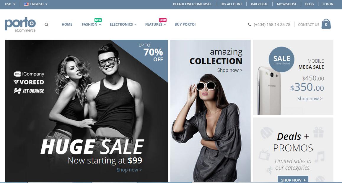 mẫu website thương mại điện tử đẹp
