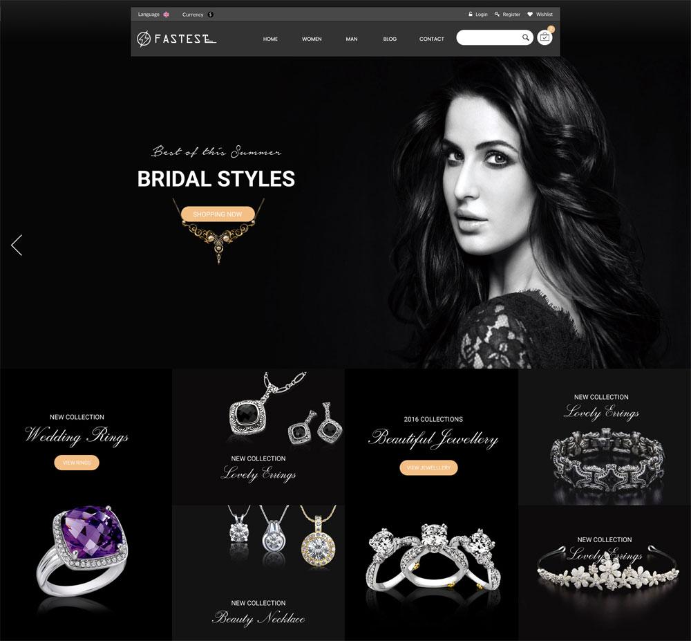 template website thương mại điện tử