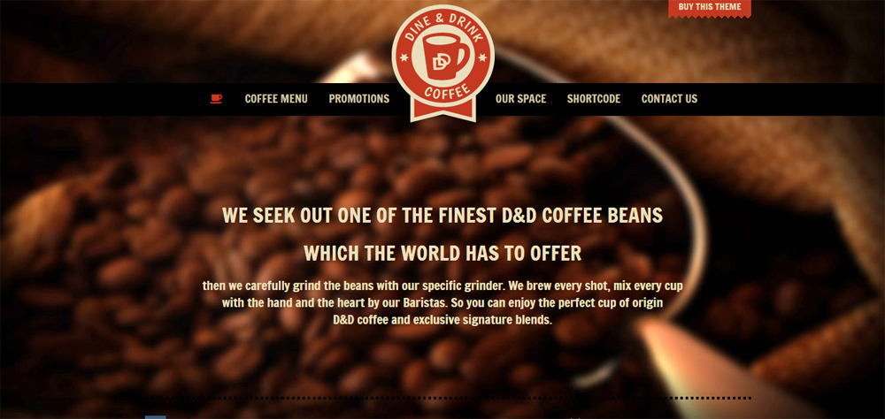 Mẫu thiết kế website quán cafe đẹp