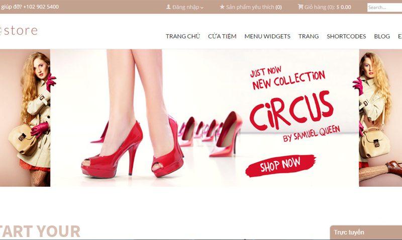 Mẫu website bán giày dép đẹp tháng 6/2016