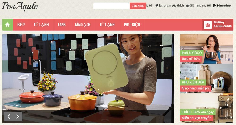 Mẫu thiết kế website bán đồ gia dụng