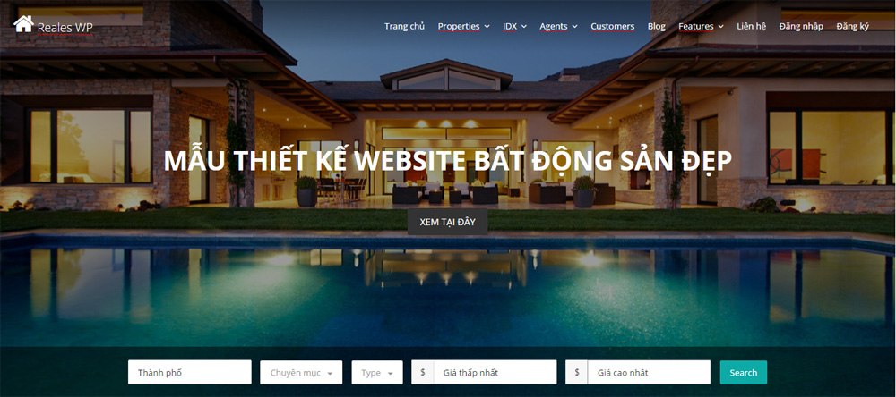 website bat dong san dep
