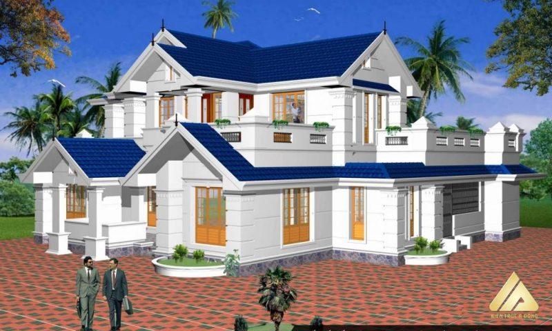 Phiêu lãng mẫu thiết kế nhà biệt thự đẹp 2 tầng