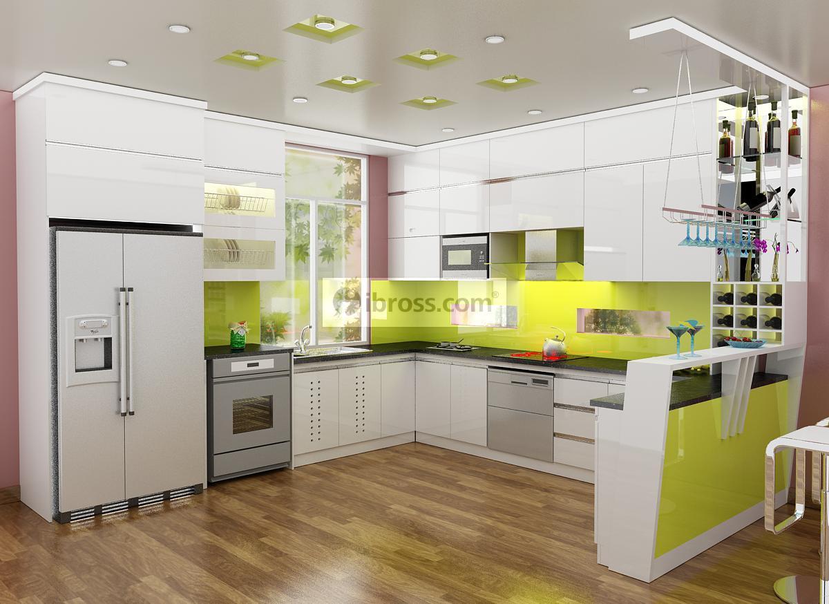 Mẫu tủ bếp PVC phủ Sơn HOT nhất cuối năm 2016