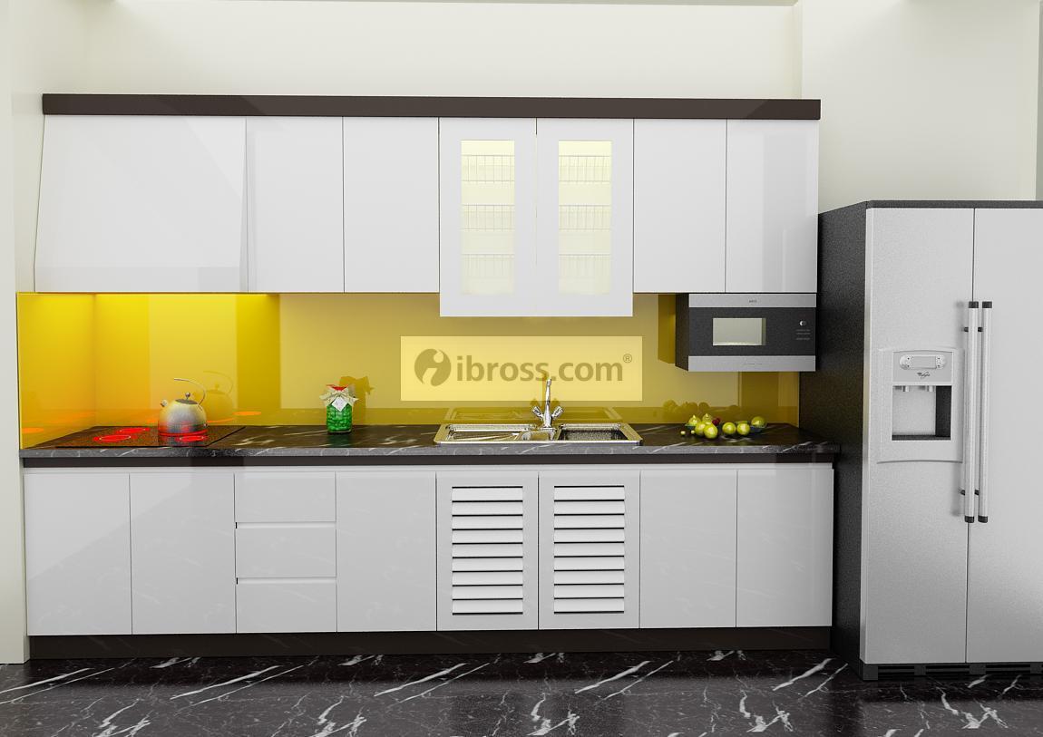 Tủ bếp chữ I thông minh cho không gian bếp nhỏ