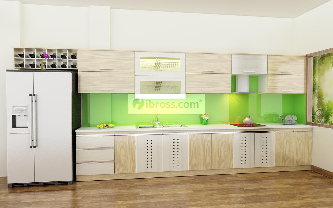 Những mẫu tủ bếp PVC phủ Laminate được người dùng yêu thích nhất