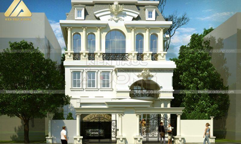 Tuyệt tác mẫu biệt thự cổ điển 3 tầng đẹp say đắm