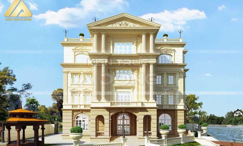 """""""Thích thú"""" mẫu kiến trúc biệt thự cổ điển đẹp"""