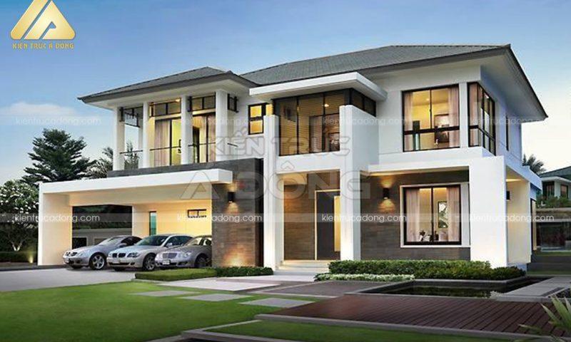 Ngẩn ngơ vẻ đẹp mẫu nhà biệt thự 2 tầng hiện đại