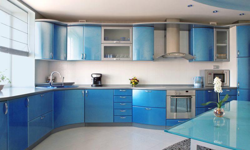 Mang năng lượng mới vào nhà với tủ bếp màu xanh