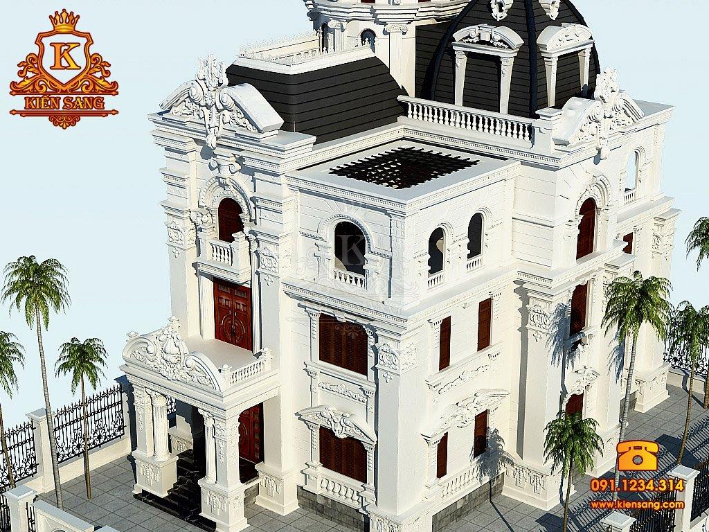 TOP 2. Mẫu bản vẽ thiết kế biệt thự cổ điển đẹp nhất tháng 11/2018